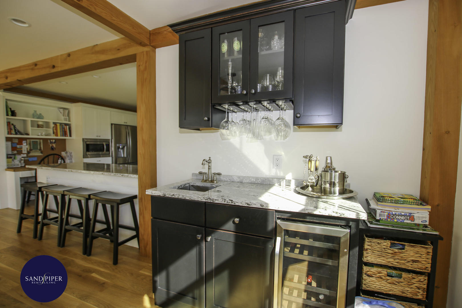 Wet Bar in Dining Area
