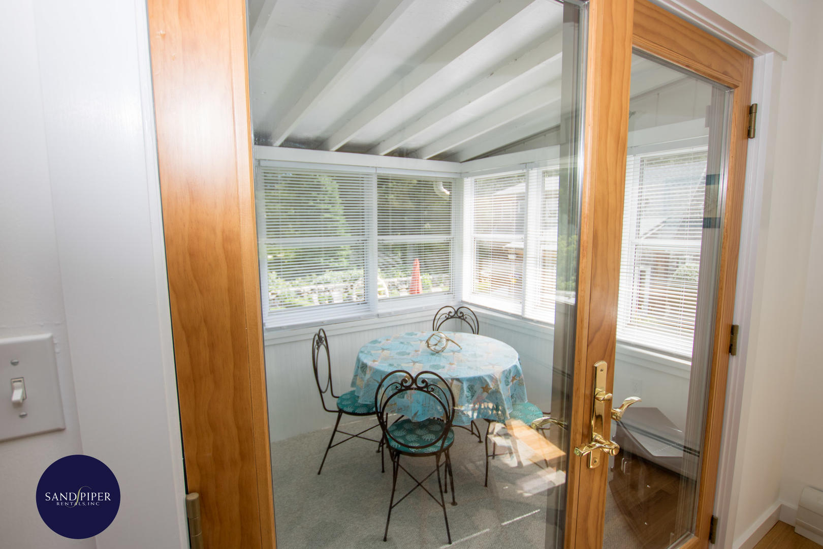 Porch off Kitchen and Dining areas