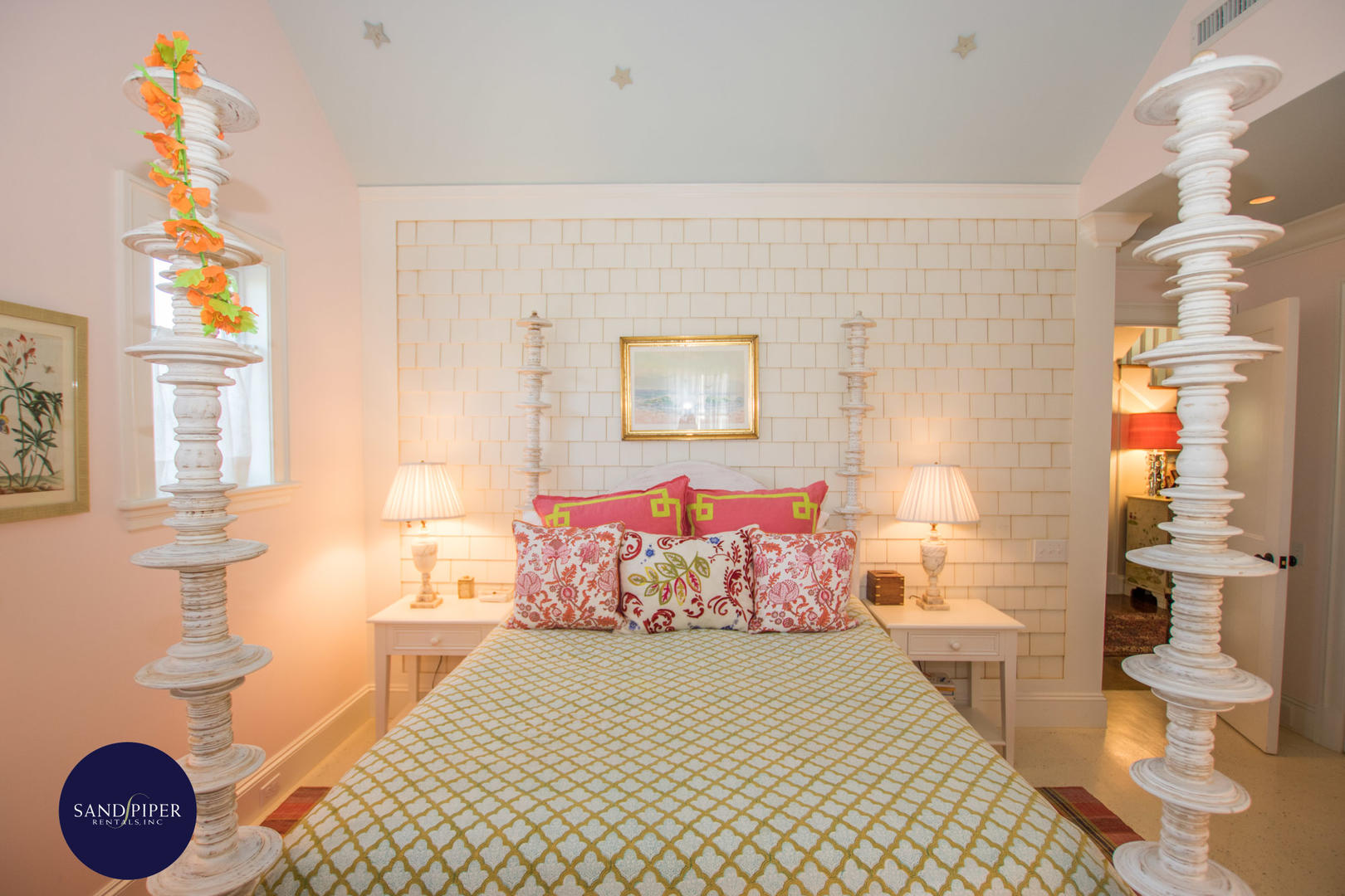 Bedroom 2 with Queen Bed and Ensuite Bath with Tub Shower Combination, Second Floor