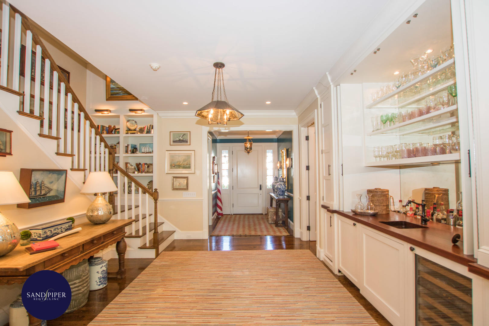 Front Hall with Wet Bar