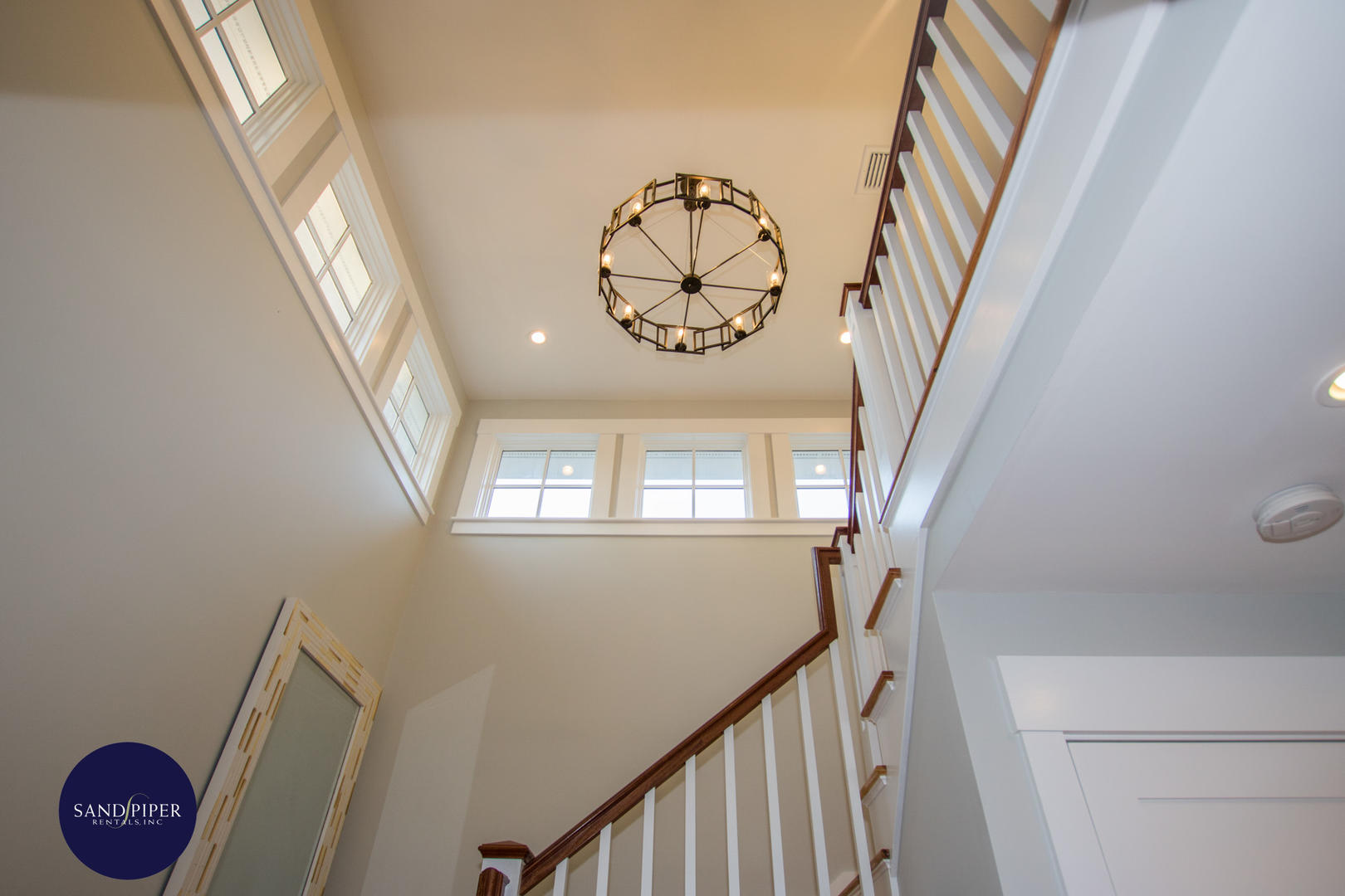 Stairway leading to second floor