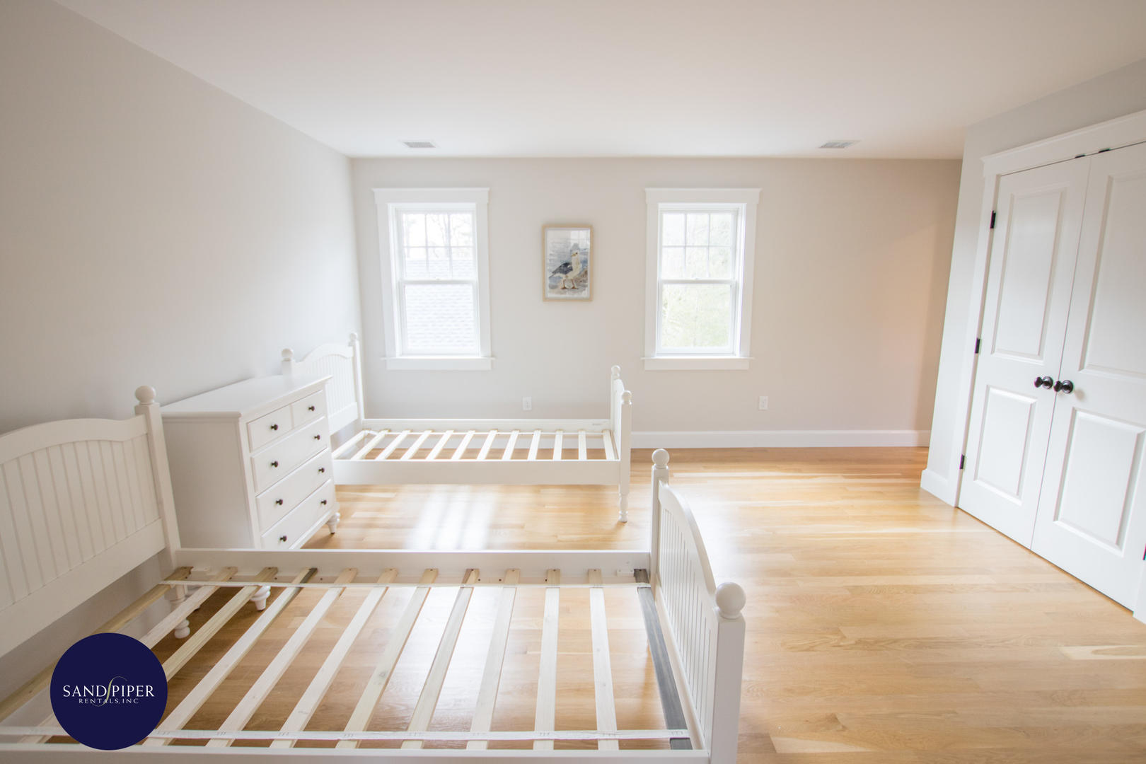 FURNISHINGS TO ARRIVE: BR3 Pair of Twin Beds, Ensuite Bath, Second Floor