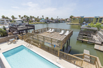 South Padre Island waterfront 3 bedroom condo rental with dock
