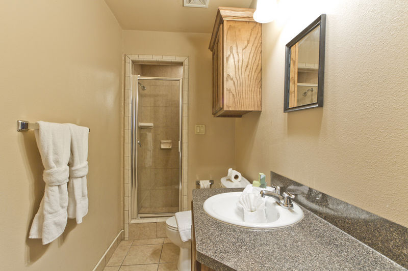 Condo # 2, master bathroom with walk in shower and elongated vanity