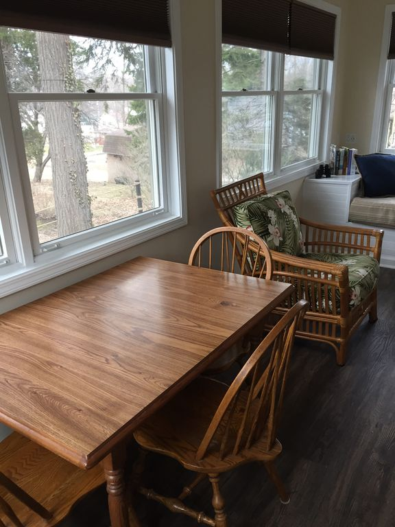 This is another photo of the porch which shows the table.