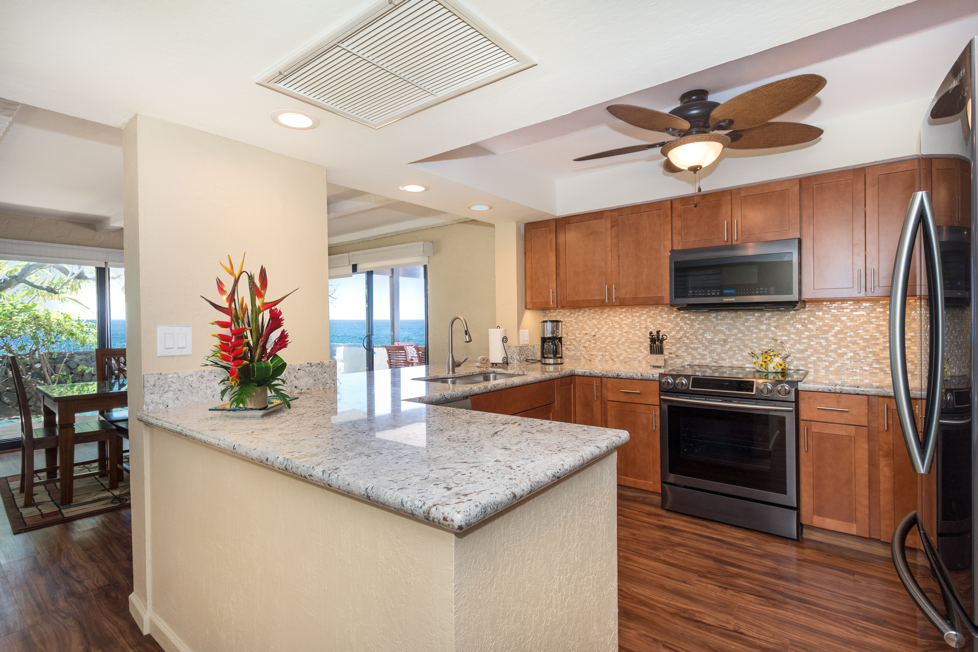 Enjoy your renovated kitchen with new high end appliances.