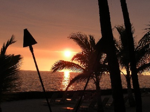 Sunset from your lanai! Maybe you will see the green flash!