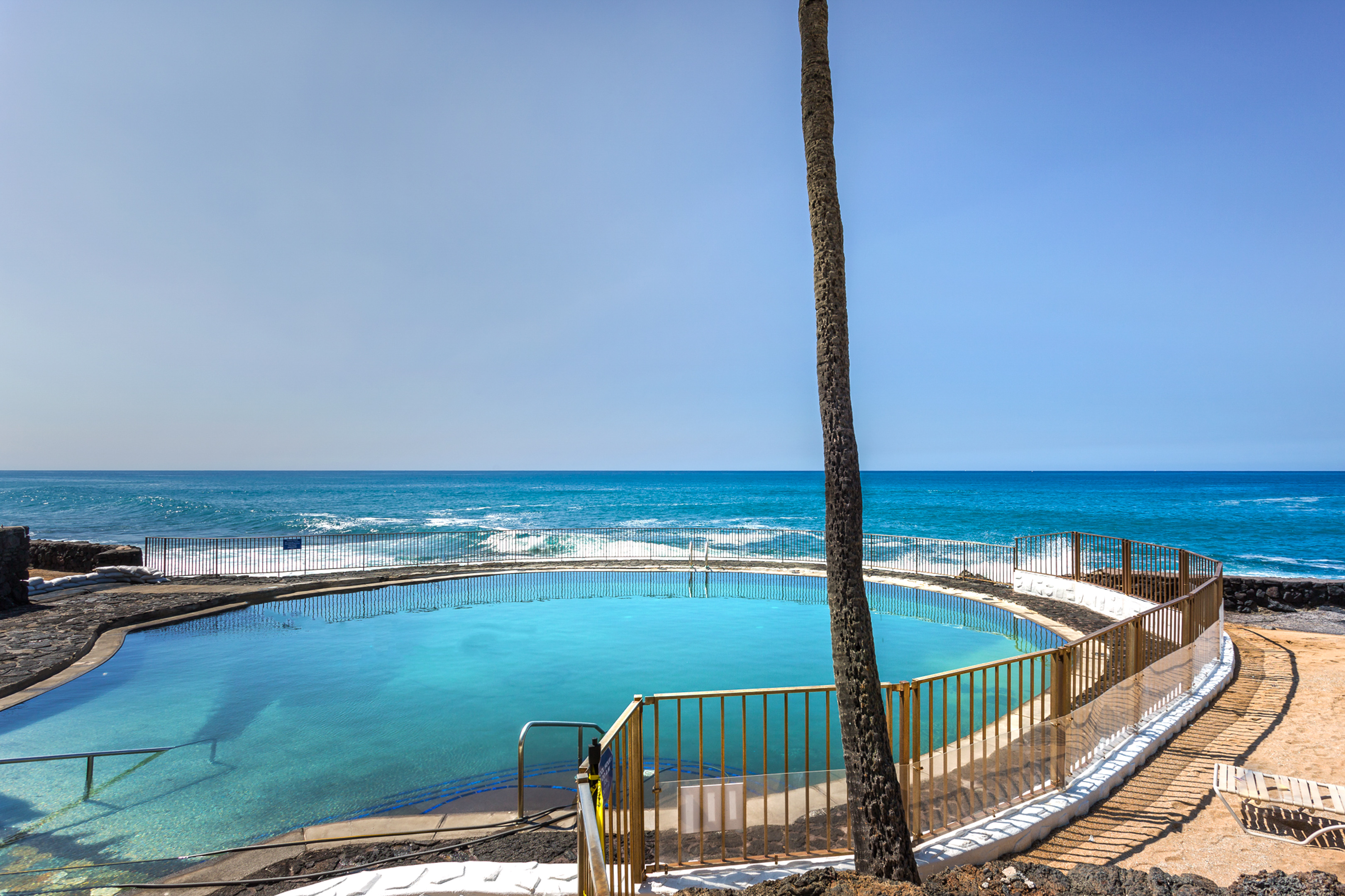 Another view of the salt water pool.
