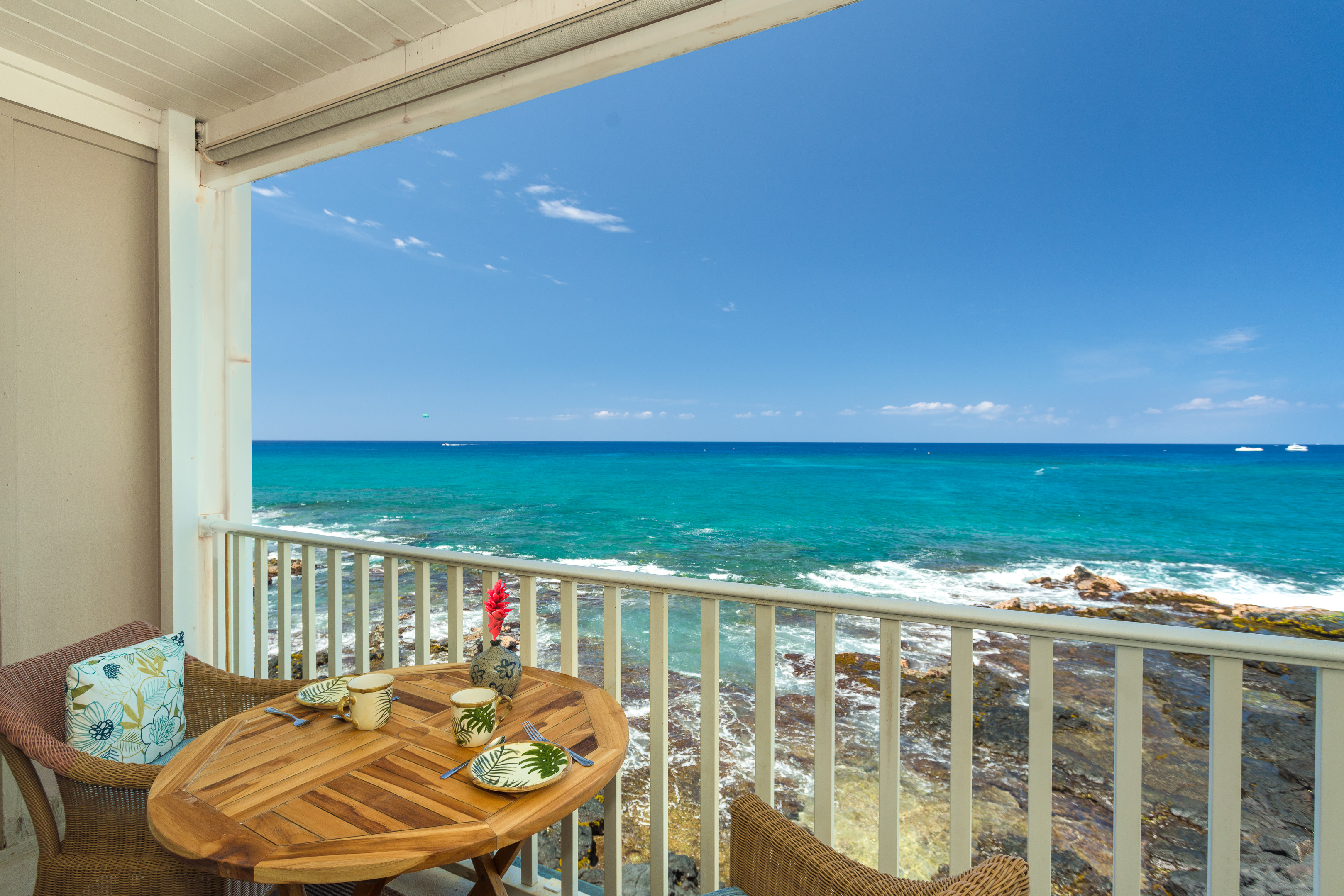 Absolute oceanfront viewing at its best.