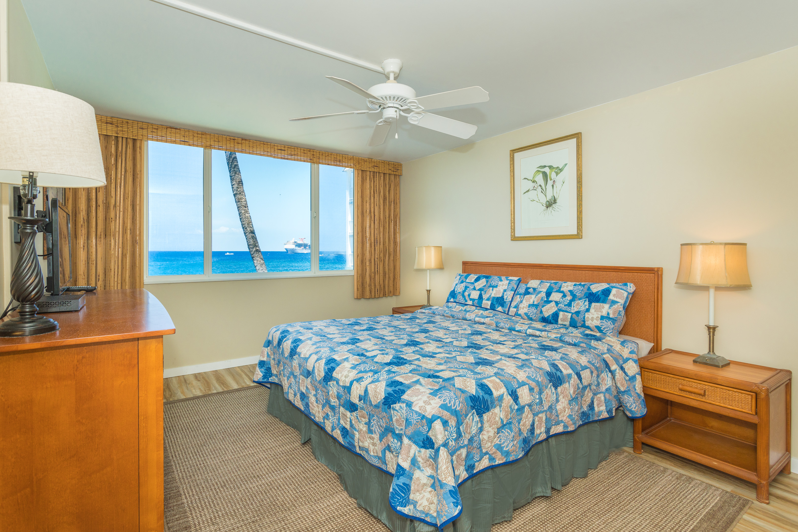 Oceanfront view from your master bedroom let the waves lull you to sleep.