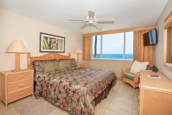 New king bed in your oceanfront bedroom, let the waves lull you to sleep.