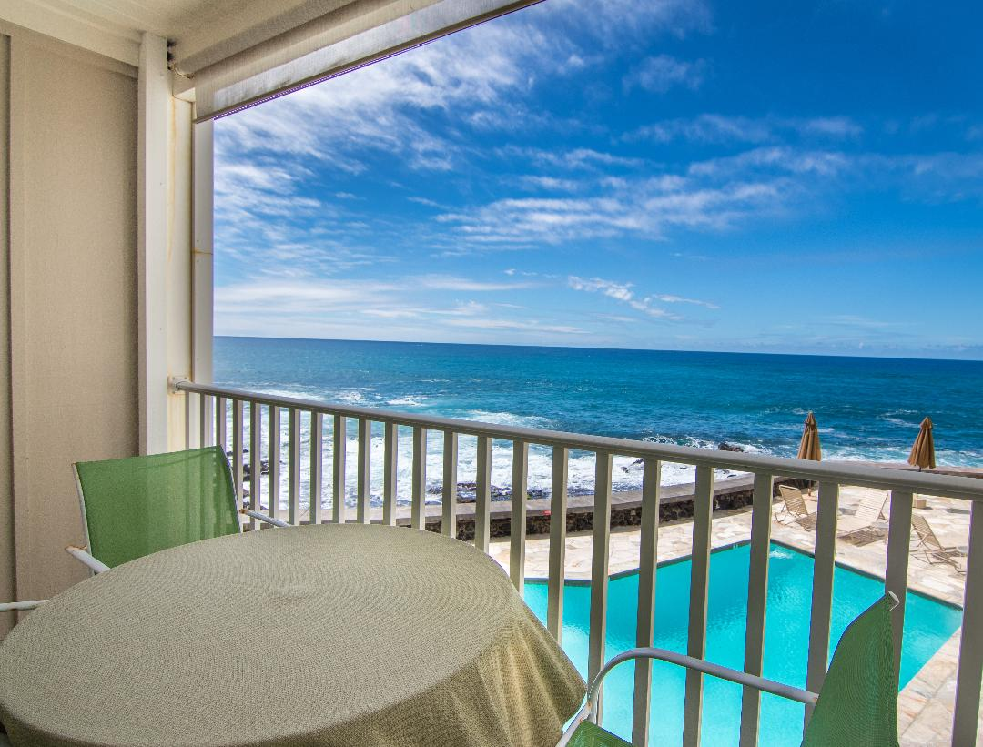 Oceanfront view from your lanai.