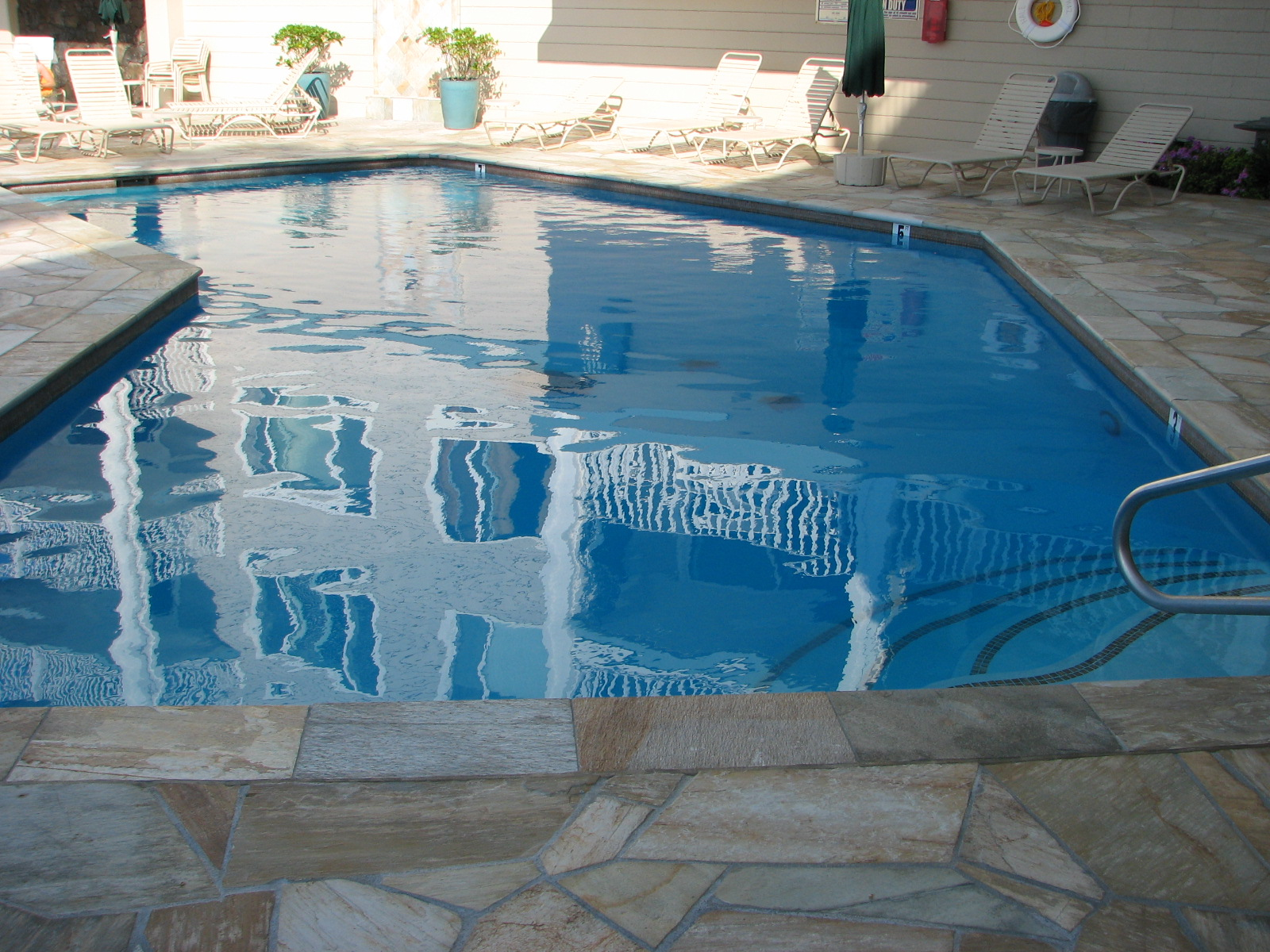 Our heated pool is waiting for you.