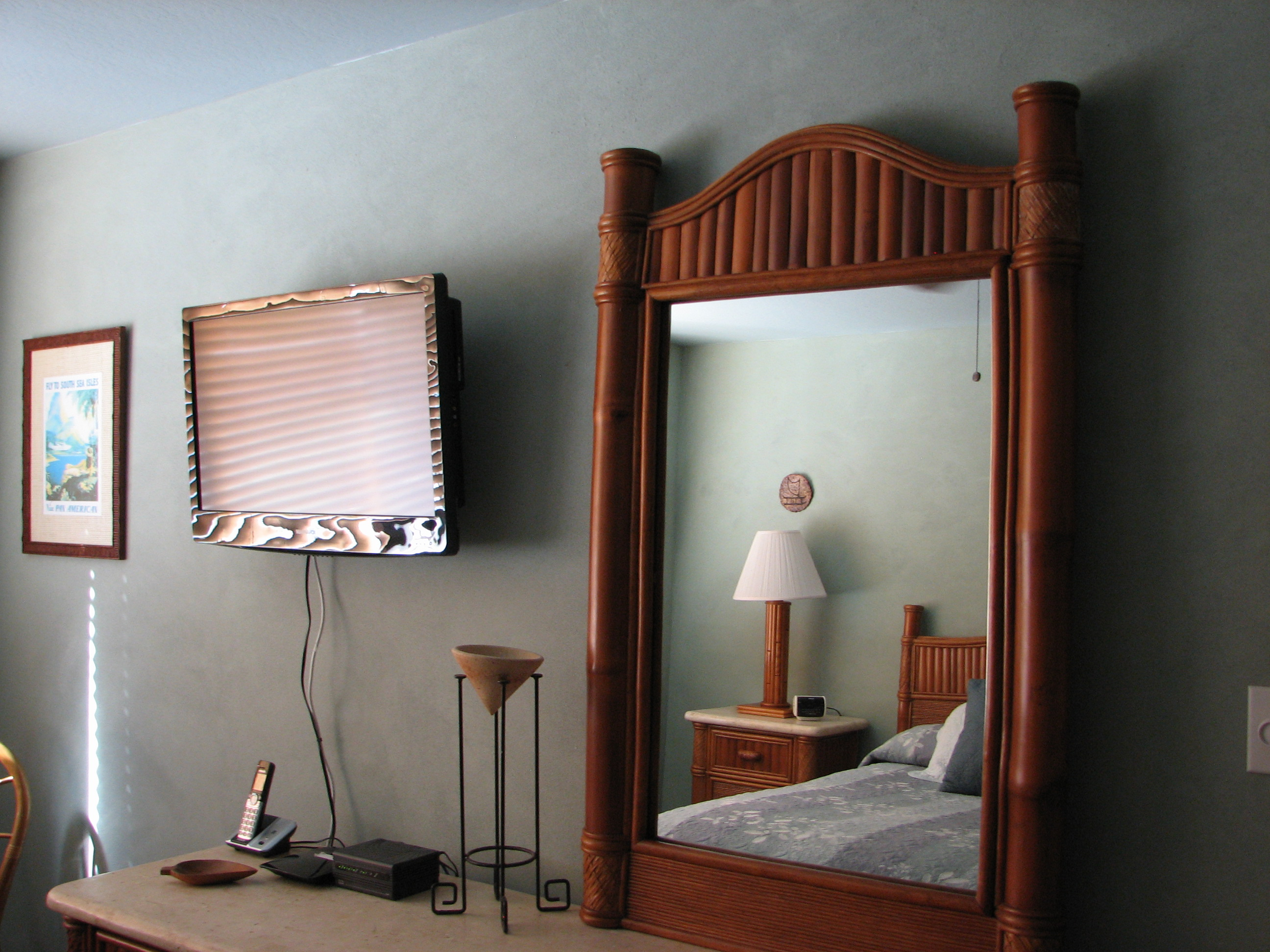 Cable TV and plenty of storage in your private master bedroom