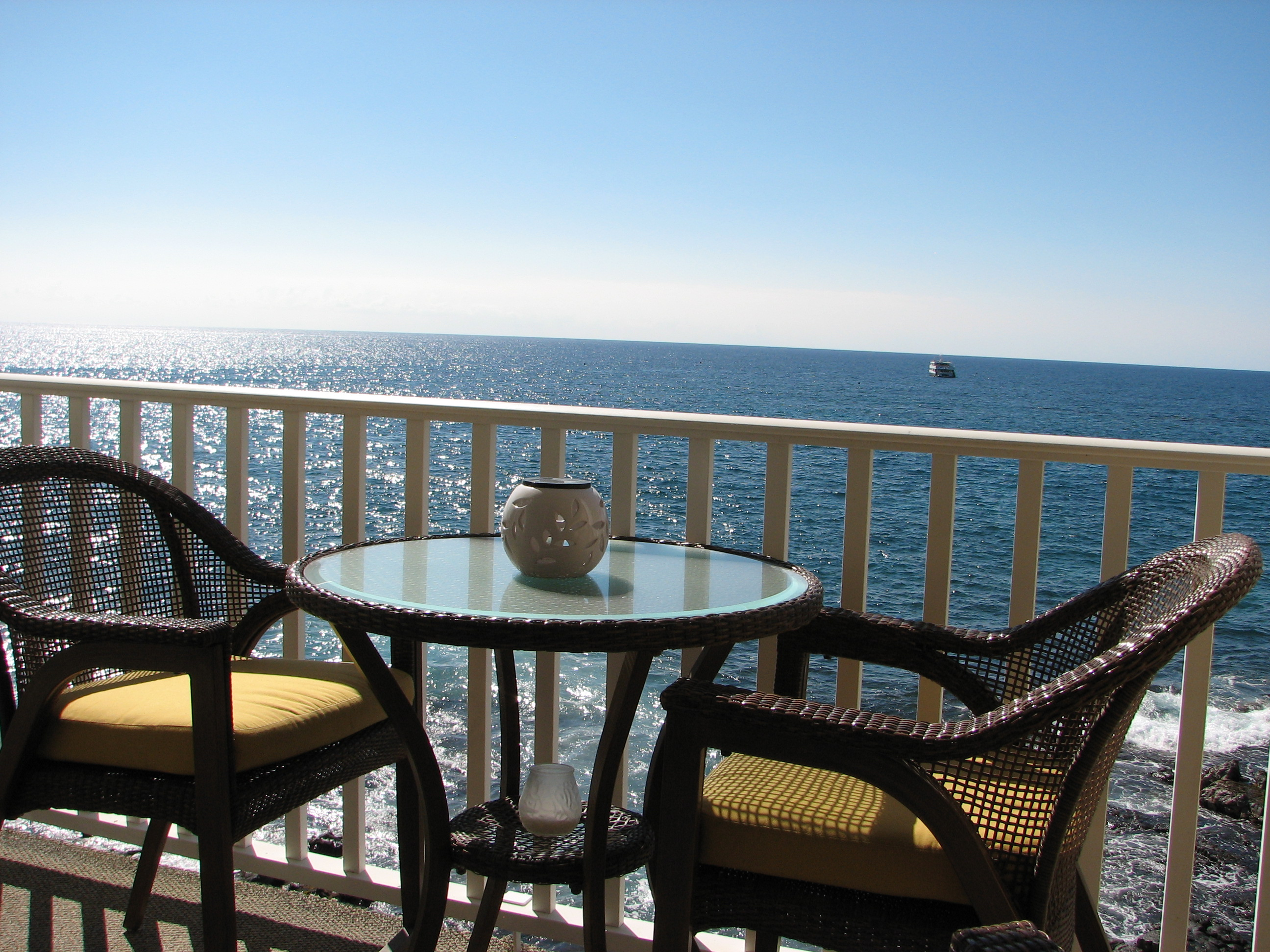 Dine oceanfront on your private lanai.