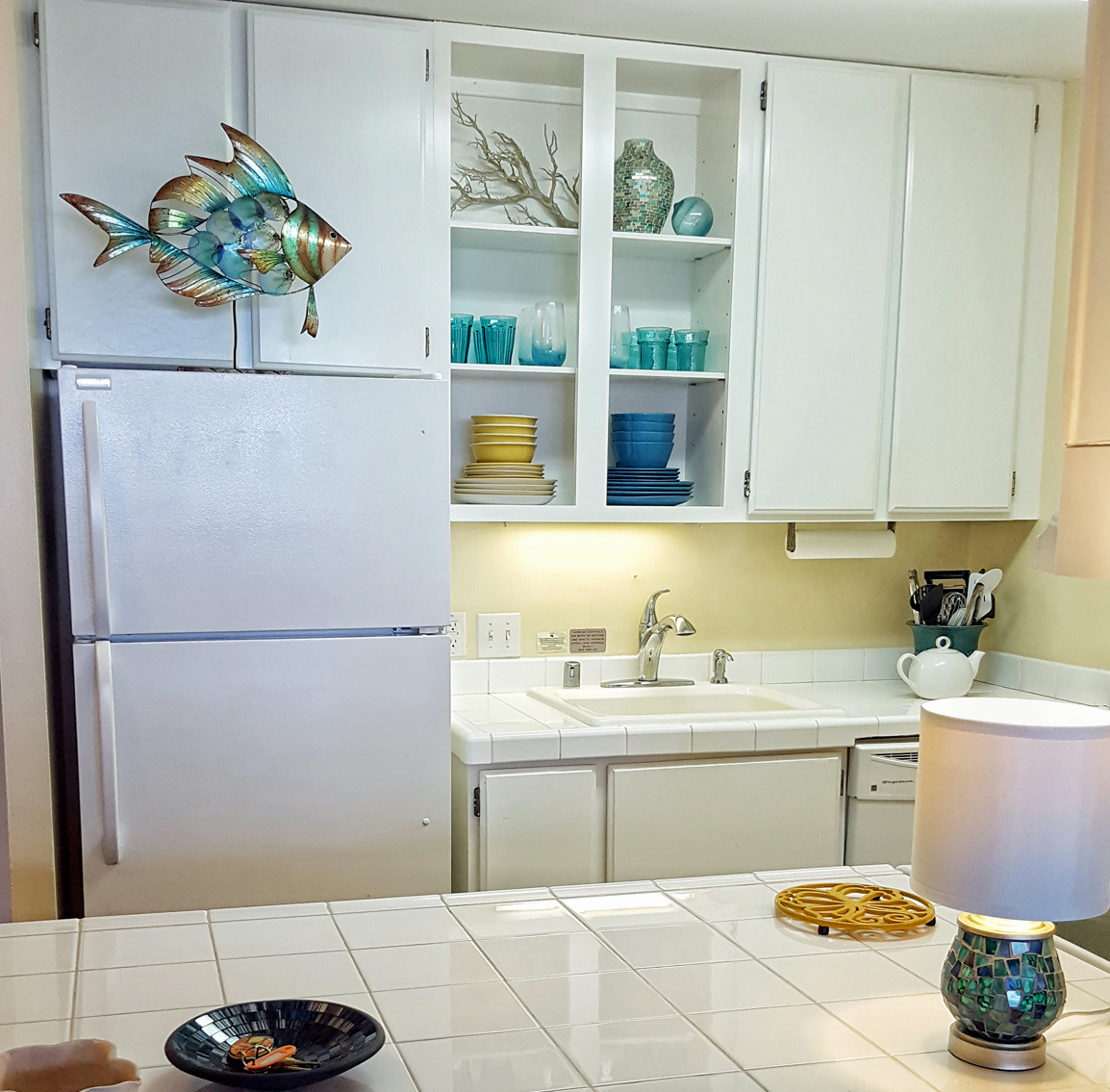 Updated kitchen with everything a cook needs for a quick meal or entertaining.