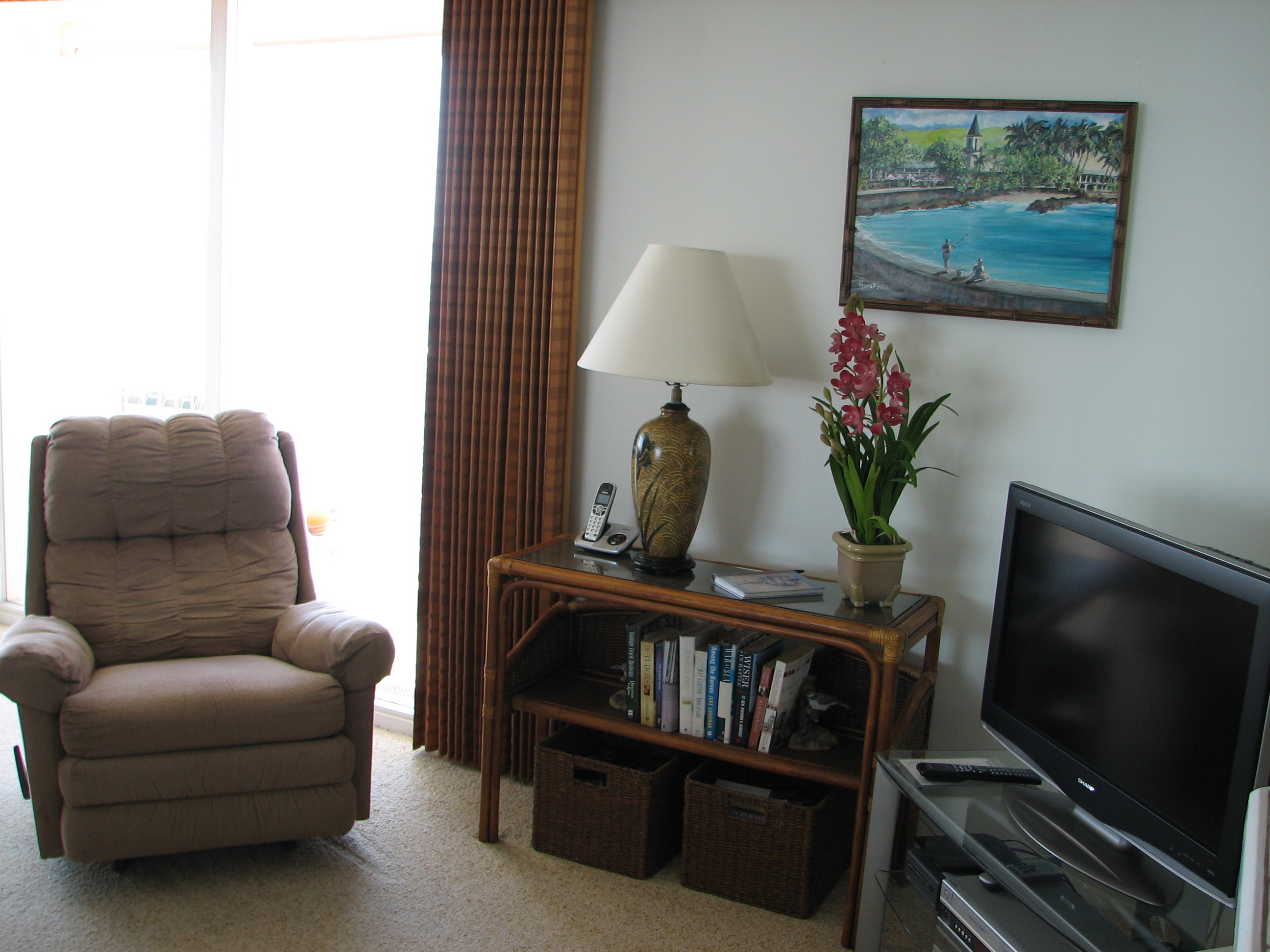Additional seating and cable TV in your living room.
