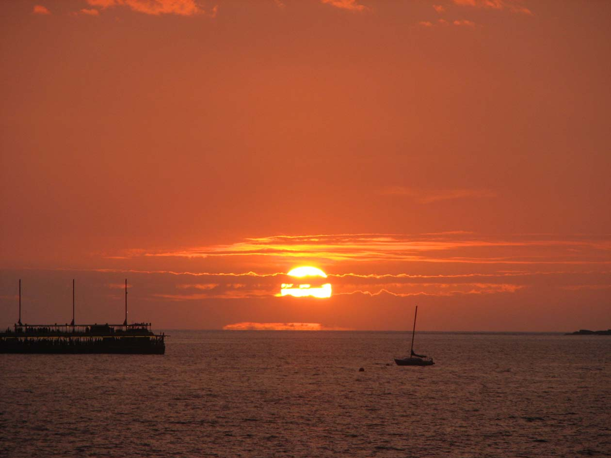 Amazing sunsets, maybe you will catch the green flash!