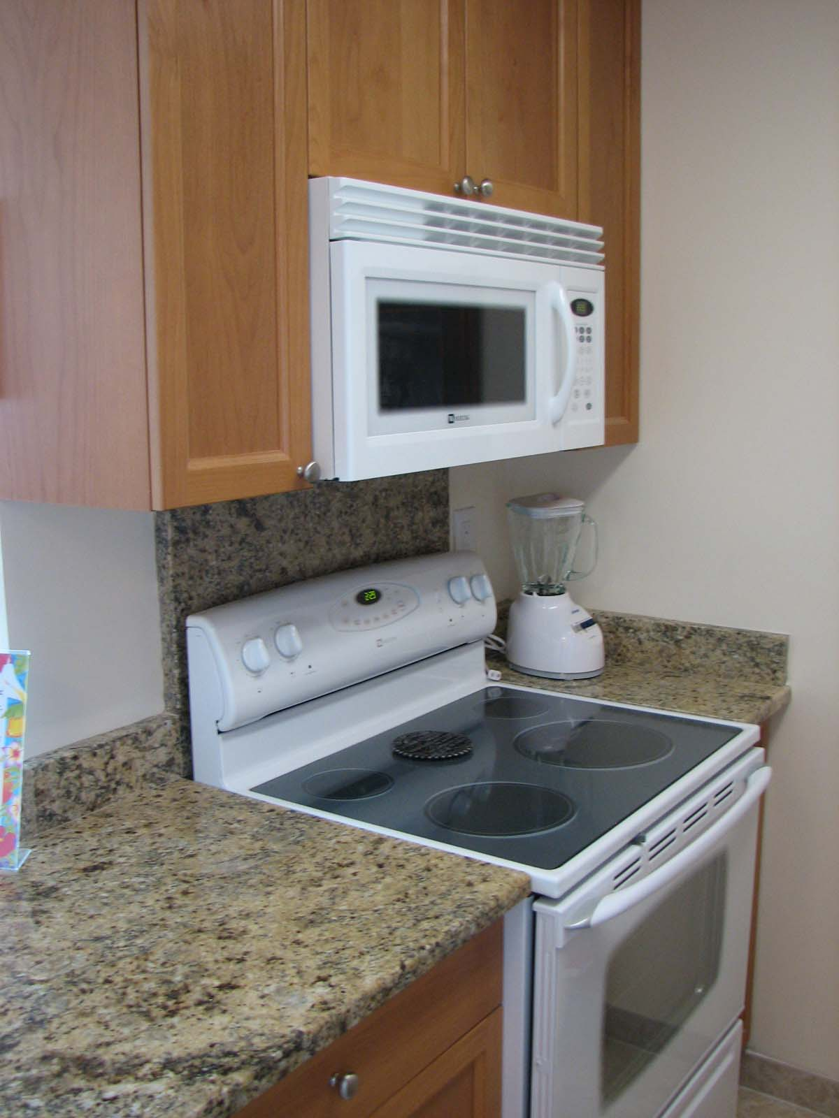 All of the large and small appliances for the chef... with an ocean front view from the kitchen!