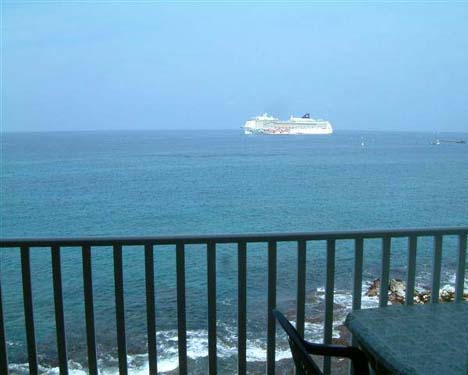 Oceanfront viewing at its best.