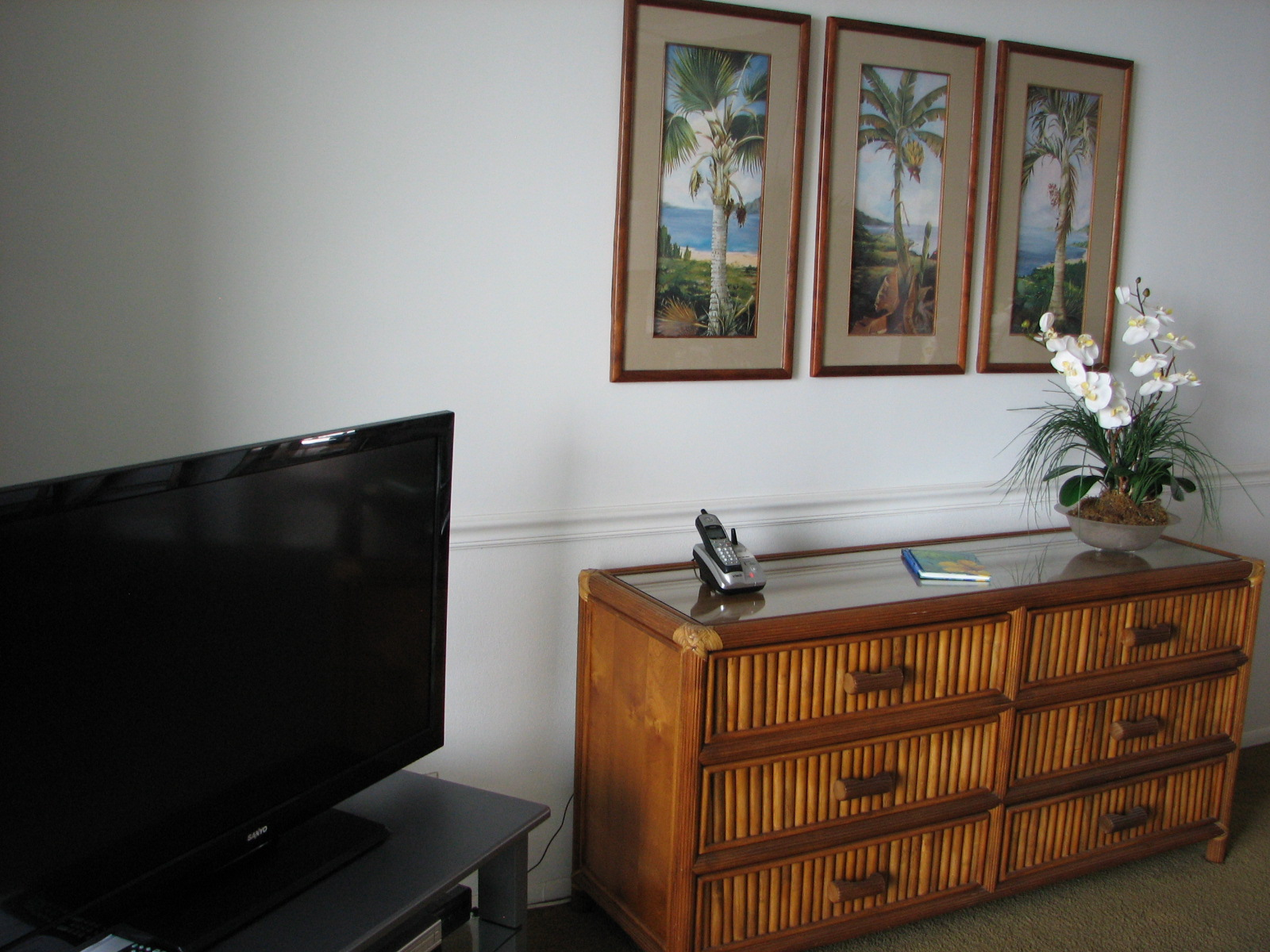Cable TV and extra storage in your living room.