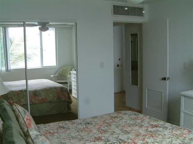 Great storage in your bedroom.Bedroom is OCEANFRONT so let the waves lull you to sleep.