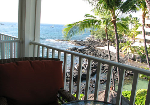 Bay from your lanai where spinner dolphin are know to play.