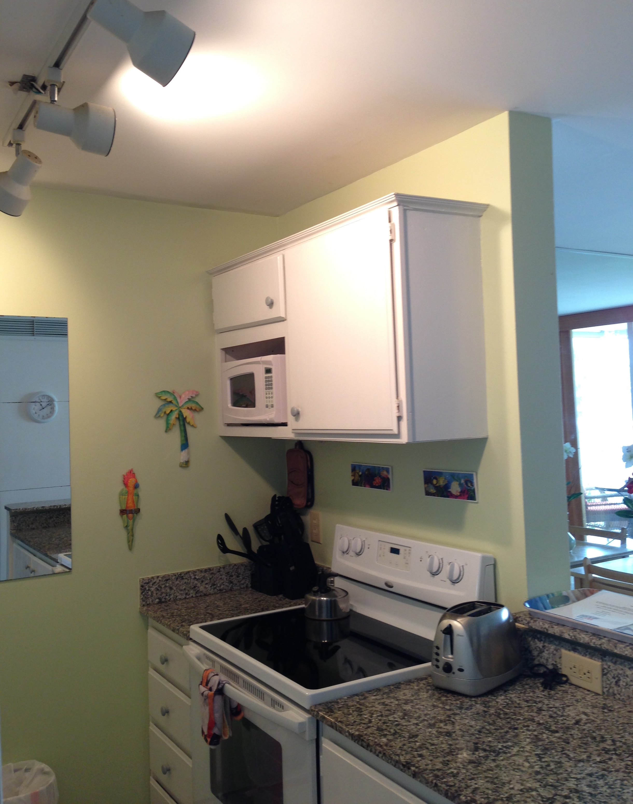 Granite counters and a view for the cook!