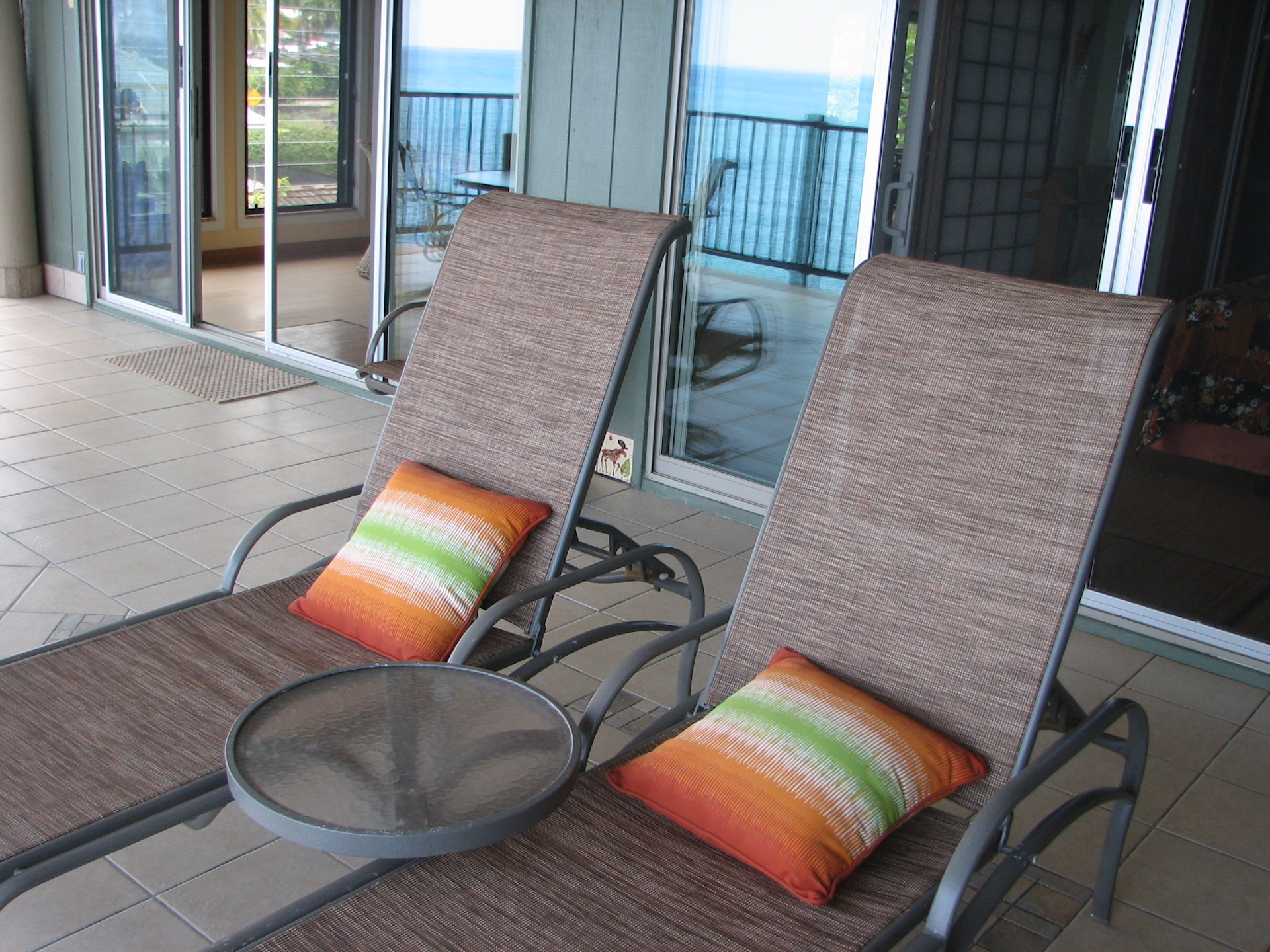 Lounging from your private oceanfront top floor condo.