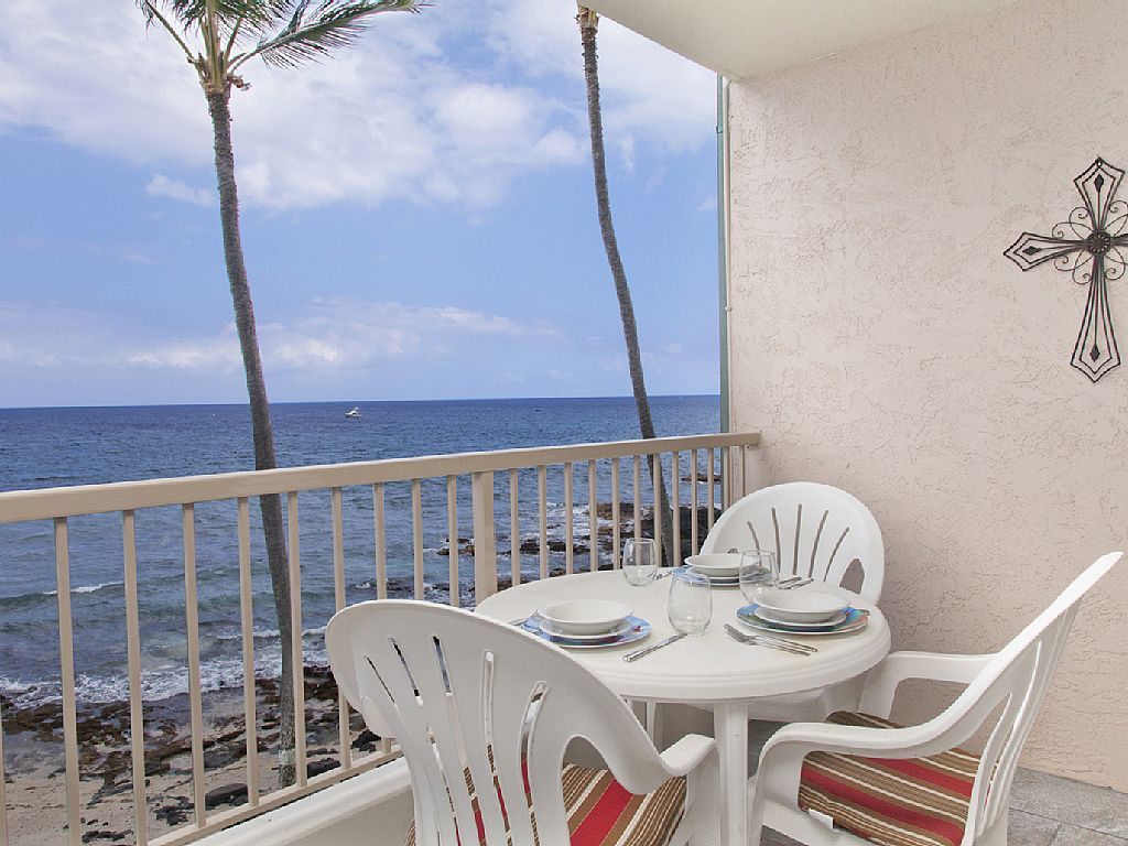 Absolute oceanfront viewing from your private lanai!