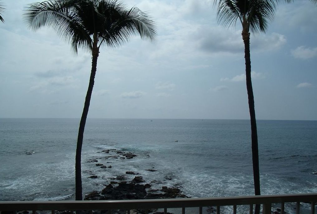 Enjoy watching the surf and ocean activities regardless of the weather.
