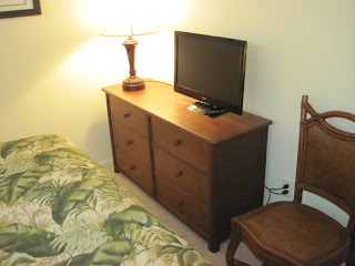 Cable TV in the bedroom.