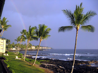 Looking south from your lanai... rainbows happen.