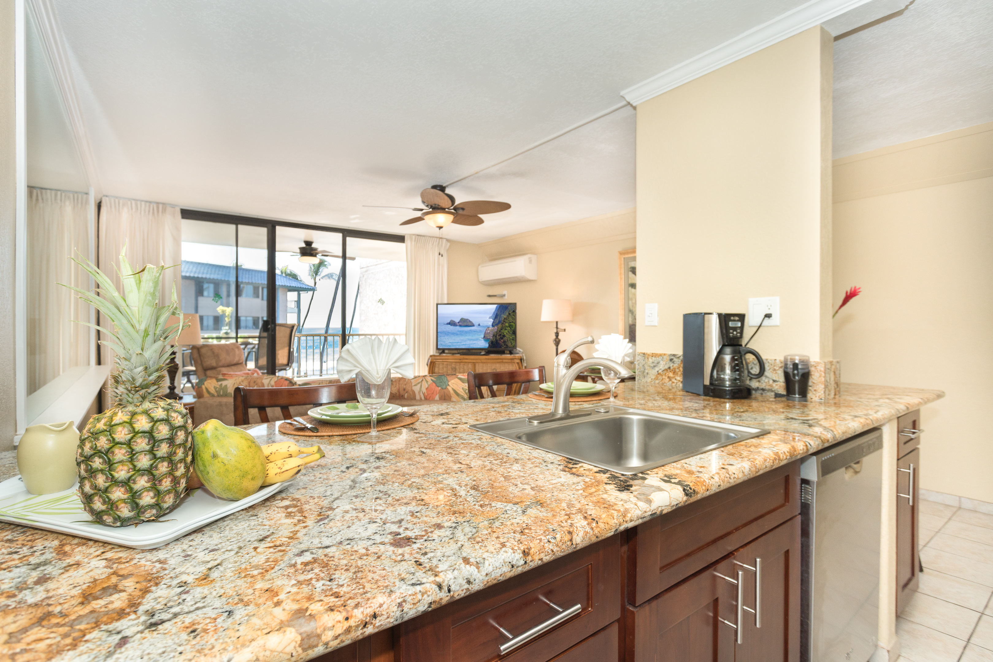 Guests share clean up in this kitchen is a pleasure.