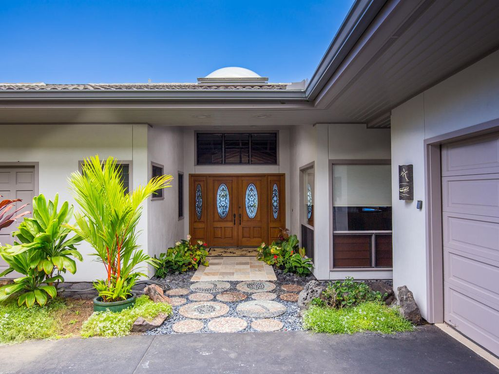 Home entry and garage.
