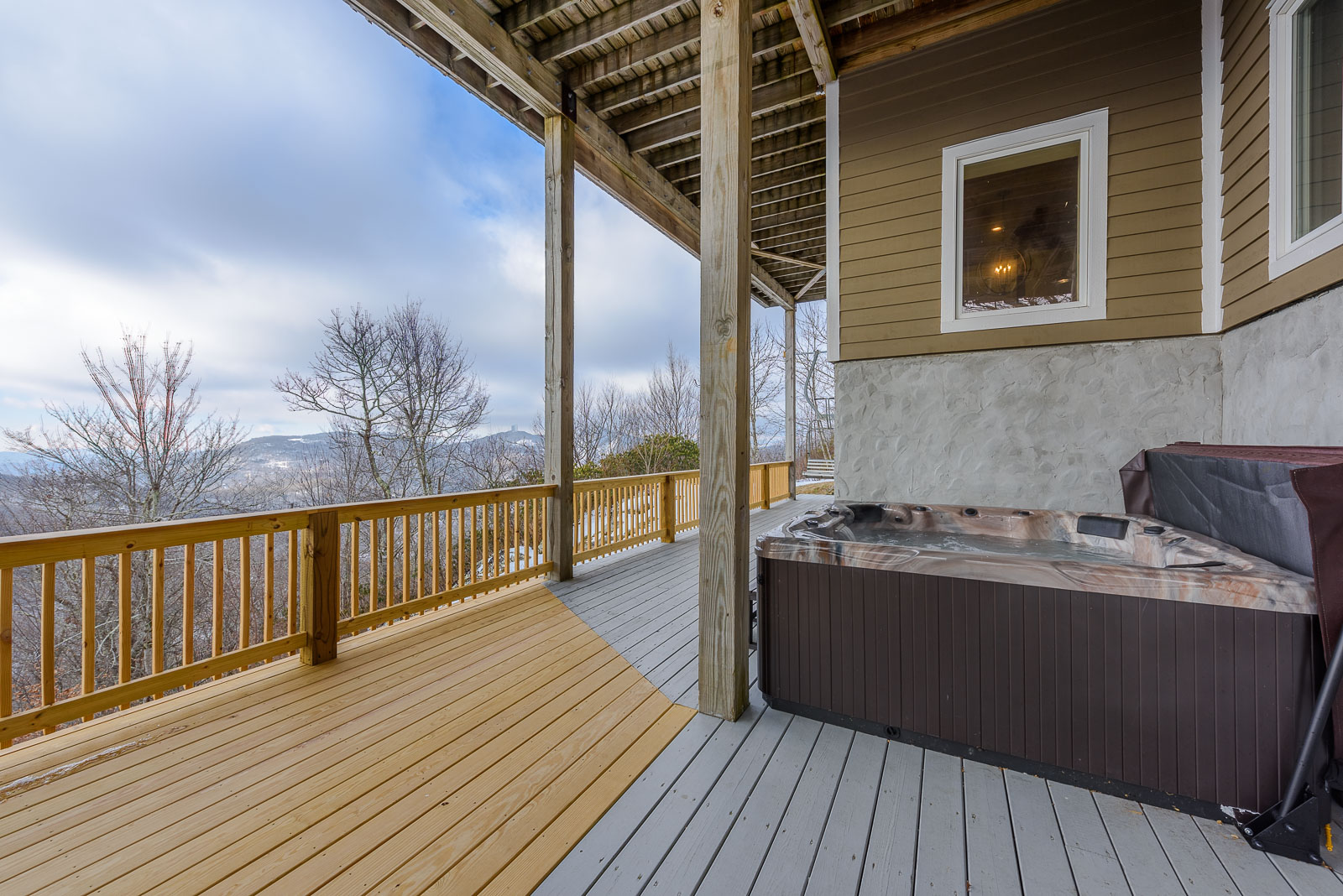Private Hot Tub on Rear Lower Deck