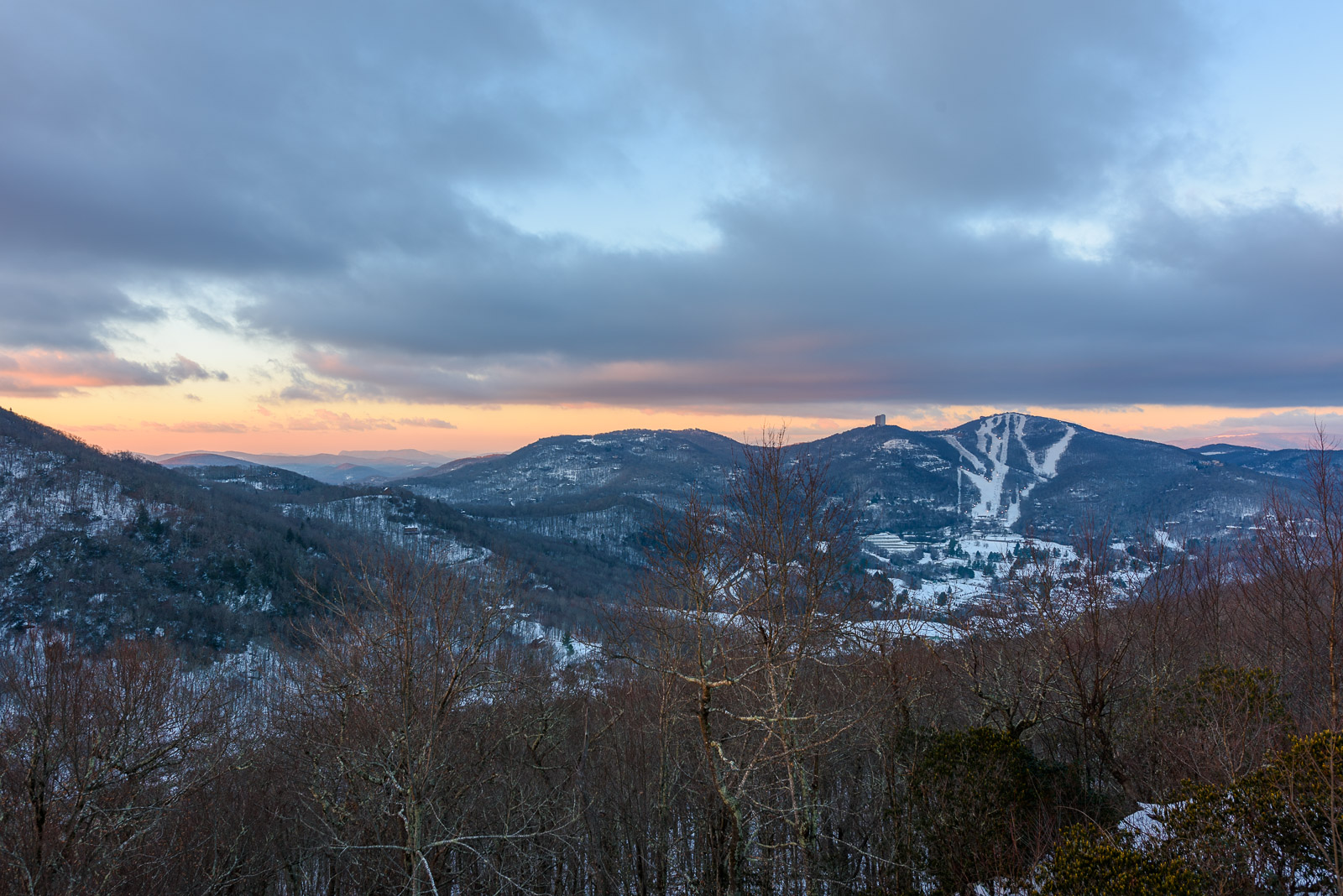 Views of the Slopes of Sugar Mountain from the Deck