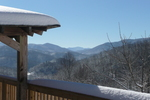 Big Sky Lodge Snowy Day View from Back Deck Beech Mountain vacation home rental 5 bedrooms