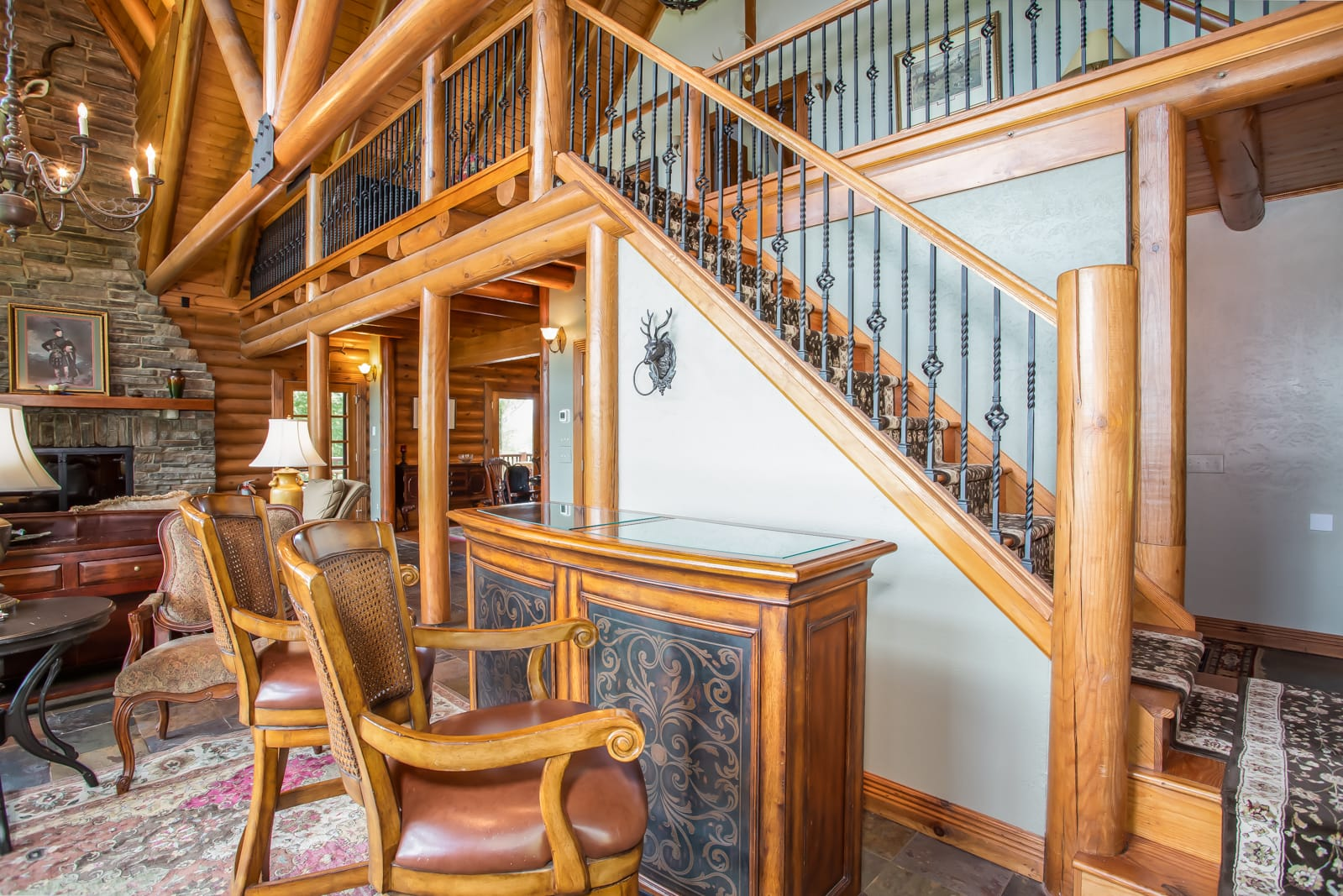 Seaforth Great Place to Enjoy Being Together, Exposed Beams, High Vaulted Ceilings, Stone Fireplace