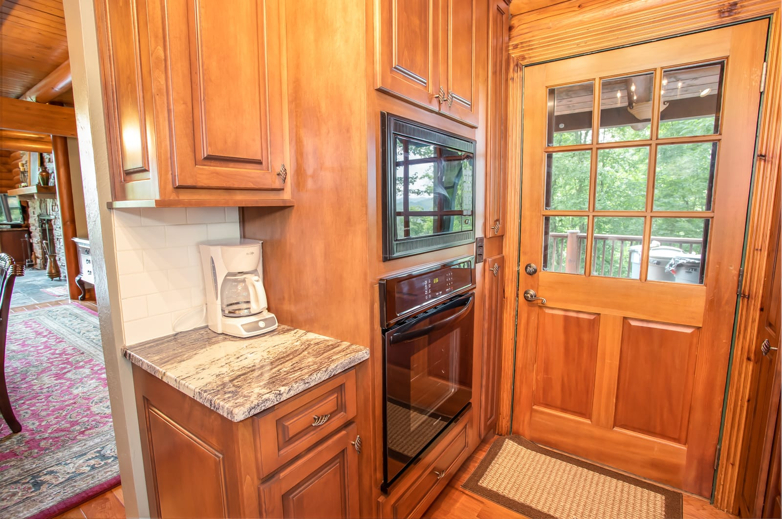 Seaforth Kitchen With Lots of Counter Space, Opens to Dining, Deck, Entry Hall and Parking Area