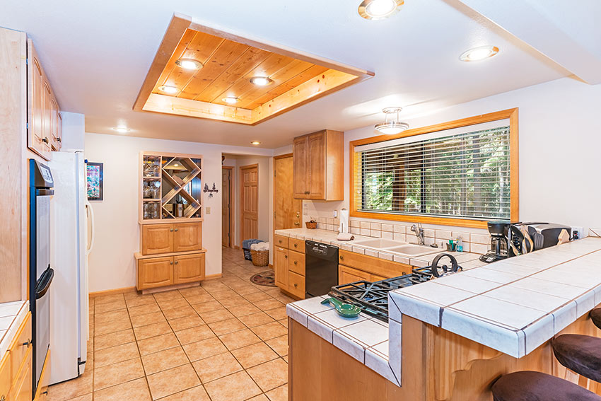 Generous open kitchen