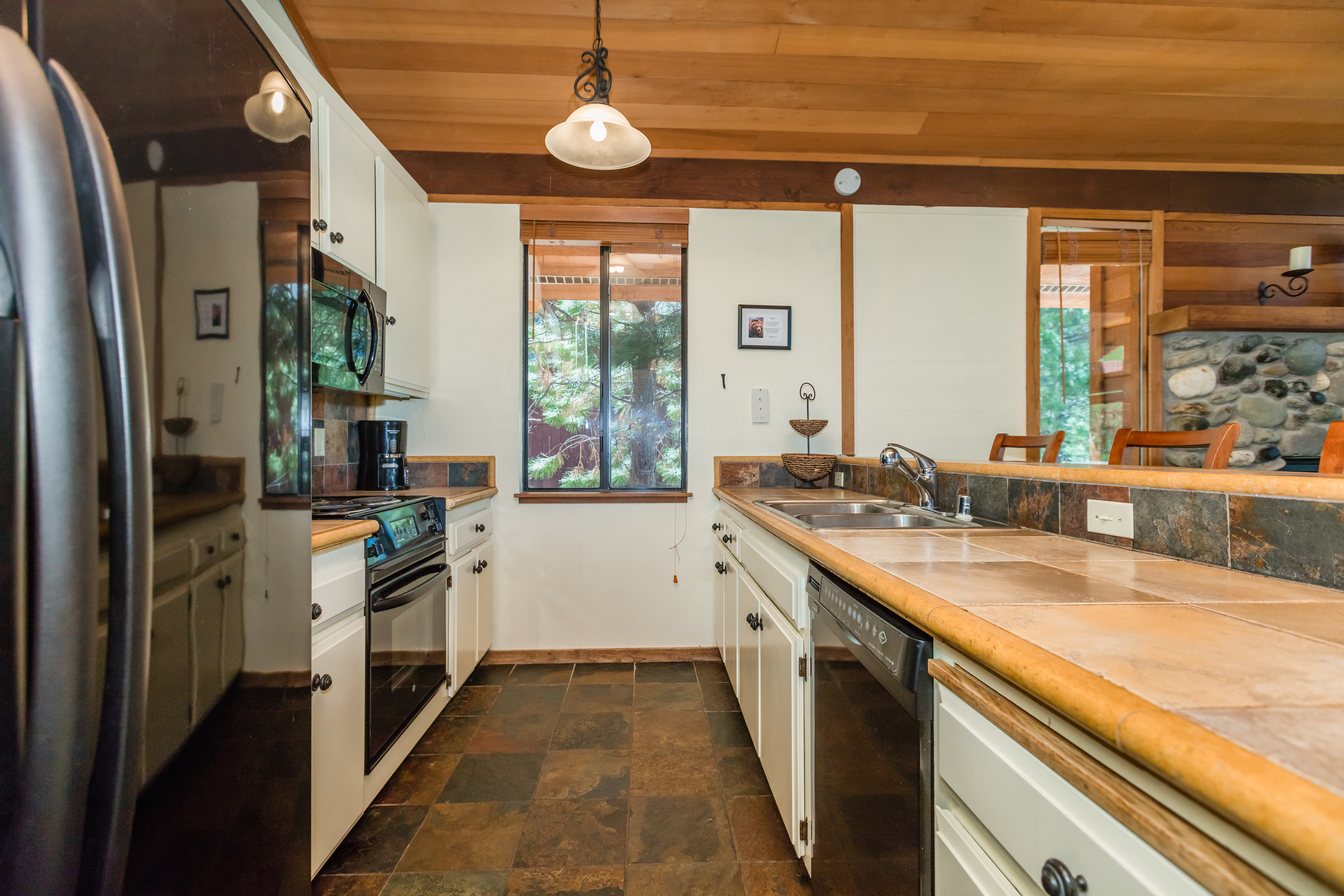 Galley kitchen-compact, yet efficient and open for entertaining