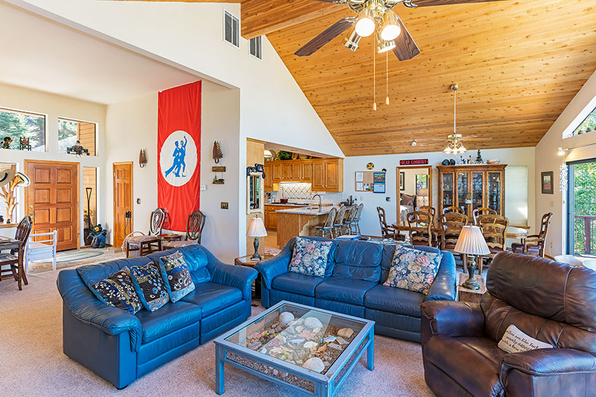 High vaulted ceilings offer plenty of natural light