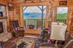 A Piece of Heaven - Sevierville Tennessee - Living area with great views - Mountain Time Cabin Rentals