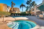 The complex offers a community pool and hot tub for your enjoyment