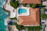 Helicopter view of the villa in Curacao