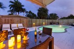 A Beautiful Evening by our Swimming Pool