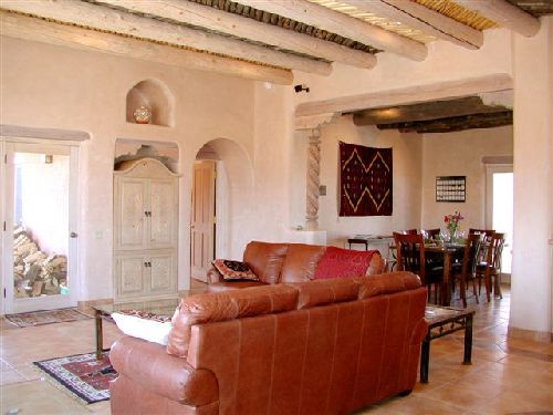 casa de los huesos 3 bedroom vacation house rental taos 10744 | taos house leather sofas 8