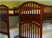 Bedroom 5 (very large) has king bed, and twin over double bu