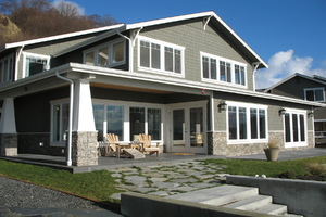 Cape Cod style luxury home on 75' low bank sandy southfacing